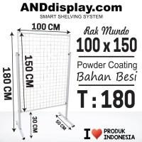 RAK MUNDO UK 100 X 150CM/RAM BINGKAI/DISPLAY/CANTOLAN/AKSESORIS
