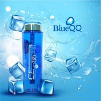 Blue QQ Botol Minum Kesehatan Air Alkaline