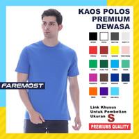 faremost-Kaos Polos Pria Unisex Lengan pendek cotton 30s Ukuran (S)