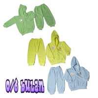 Stelan baju hangat bayi newbron bahan handuk 0-6 bulan