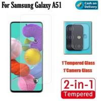 Tempered Glass Samsung A51 Anti Gores Layar dan Kamera Belakang
