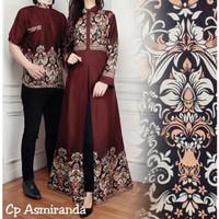 Baju Couple Kapel Cople Samaan Pasangan Kemeja Gamis Busana Muslim Max