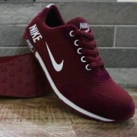 Sepatu nike neo cewek cowok hitam merah abu biru dongker murah