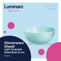 Luminarc Dinnerware Diwali - Light Turquoise Salad Bowl 21cm - 6pcs