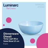 Luminarc Dinnerware Diwali - Tempered Light Blue Salad Bowl 21cm- 6pcs