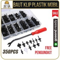 Baut Klip Plastik Mobil 350PCS Plus Pengungkit
