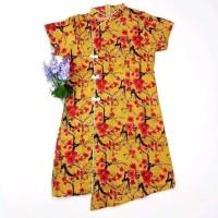 Selli Cheongsam Dress - Pakaian Wanita Imlek High Quality - Merah