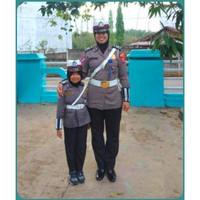 Baju Polwan anak -Kostum Polwantas-Baju profesi Polisi lalulintas - S
