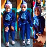 Baju kostum Pramugari anak Hijab Kostum profesi Pramugari anak Lucu - M