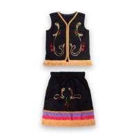Baju Adat Anak/ Baju Dayak Anak Perempuan / Kostum Daerah - 1 tahun