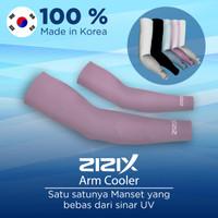 Zizix Korea Arm Sleeve UV dingin - Manset Sarung Lengan 99.8% Matahari - Merah Muda