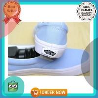 Sepatu Vans Slip On Biru Muda Slipon Baby Blue Pastel Waffle DT