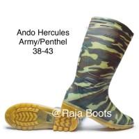 Sepatu Boots Ando Hercules Panjang Army size 38-43