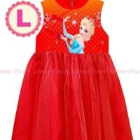 dress imlek frozen elsa MA 11 L