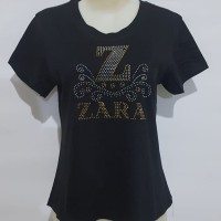 Oblong wanita T-Shirt kaos atasan cewek Tumbler tee motek 151