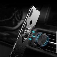 Asus Max Pro M1 Hard Case Armor Panther witth Ring Cover Iron+Iring