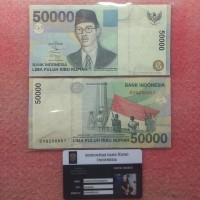 Uang Kertas kuno Indonesia 50 Rb Wr Supratman Tahun 1999