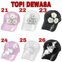 Topi Fashion manik kilap bling blink shiny hat 21-40