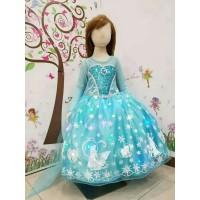 Baju Anak Dress Kostum Frozen Princess Elsa 21 - Music Nyala Lampu