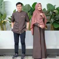 gamis couple najibah moscrepe alwa hijab