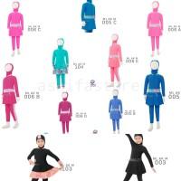 Baju Renang Anak Muslim Muslimah Edora Usia 2-7 Tahun Size M L dan XL