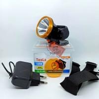 Tesla TLK-7054N Senter Kepala 10w 10 watt Headlamp Putih Lensa Kuning