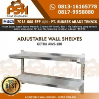 Aws-180 Ss Double Adjustable Wall Shelf / Rak Dinding Stainless Getra