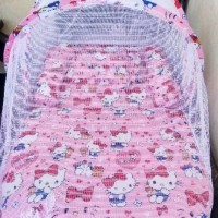 Ss Kasur Bayi Lipat Kelambu Karakter Hello Kitty Maldinipali50
