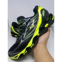 Sepatu Volly Mizuno Wave Prophecy 6 Black Yellow Murah