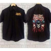 Work Shirt Kemeja Band Metal Rock Merchandise RIGOR MORTIS