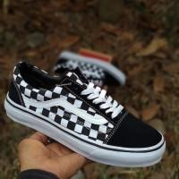 Sepatu Vans Checkerboard Catur Black White