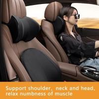 Car Seat Head Neck Rest Massage Auto Pillow Space Memory Car