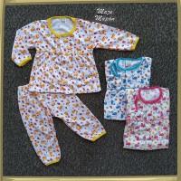 ZPY111 Setelan Baju Bayi Perempuan Piyama Baju Tidur Motif FLAMINGGO 2