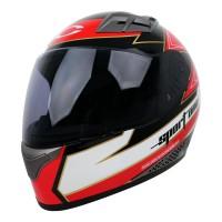 Cargloss New Sport One SECA Helm Full Face - Red Deep Black
