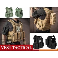 Rompi Tactical Army Vest Body Protection Airsoft Army