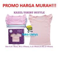 Kazel Ruffle Shirt Kaos Baju Anak Bayi Perempuan Cewek Pastel Edition