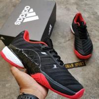 SEPATU ADIDAS BARRICADE 2018 BOOST BLACK RED PREMIUM QUALITY