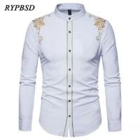 Baju Kemeja Koko Bastile Putih Bordir Batik Imlek Motif Cina Pria