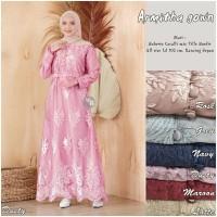 Gamis Muslimah Dress Brukat Remaja Baju Busana Muslim Modern Terbaru