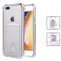 Anti Crack Card Holder Kartu Iphone 7 8 PLUS 7+ 8+ case casing cover