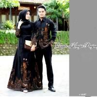 Baju sarimbit batik couple gamis jumbo dan kemeja ld 120 motif naga