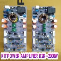 kit power Amplifier Klass D2k 2000w lengkap HS jual sesuai iklan 2kit