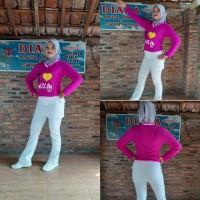 Baju senam muslim setelan olahraga wanita pink - Merah Muda, M