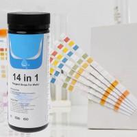 14 in 1 water test residual chlorine, pH, total alkalinity strip meter