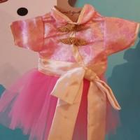 Pinky Cheongsam Dress (baju Imlek anjing)