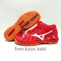 Sepatu Volly Mizuno wave tornado x2 mid sepatu voli pria#Red/white