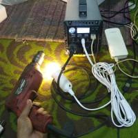 Paket Pembangkit Listrik Tenaga Surya PLTS 400W 220V AC UPS Generator