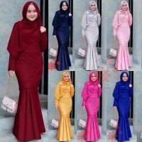 Baju Gamis Brukat Duyung Dress Pesta Muslimah Maxi Dress Muslim Aisyah