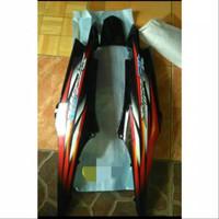 Honda supra fit new Cover body belakang plus striping 1set motor