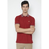 Jack Nicklaus Delmare Polo Shirt Pria Regular Fit Merah